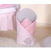 Pólya - Hímzett rózsaszín elefánt