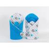 Pólya - Minky 2 oldalas Kék esernyős elefánt