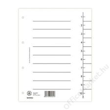 DONAU Regiszter, karton, A4, DONAU, fehér (D8610F) regiszter és tartozékai