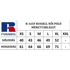 RUSSEL Karcsúsított fazonú, Russell Női póló, Green Marl női póló