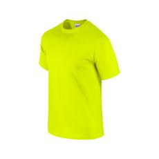 GILDAN ultra előmosott póló, safety green
