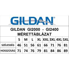 GILDAN ultra előmosott póló, heathercardinal
