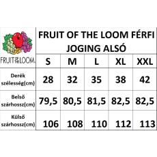 Fruit of the Loom Alul szegett, férfi jogging alsó, mélykék