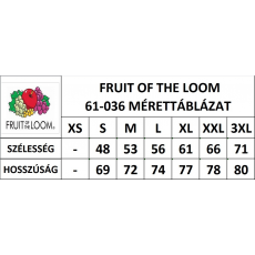 Fruit of the Loom Rövid ujjú FoL Valueweight póló, téglavörös