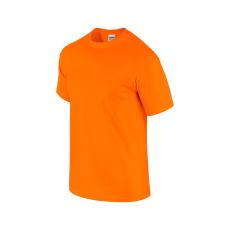 GILDAN ultra előmosott póló, safety orange
