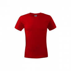 KEYA unisex környakas pamut póló, piros