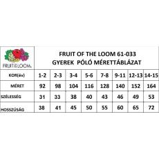 Fruit of the Loom gyerek rövid ujjú póló, narancs