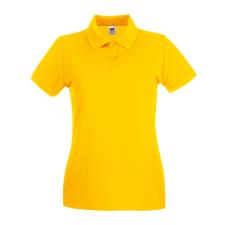 Fruit of the Loom Női premium piké póló, napsárga női póló