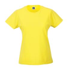 RUSSEL Női póló, hosszított, vékony fazonú, sárga