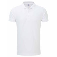 RUSSEL l férfi galléros stretch póló, fehér