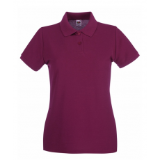 Fruit of the Loom Női premium piké polo, burgundy