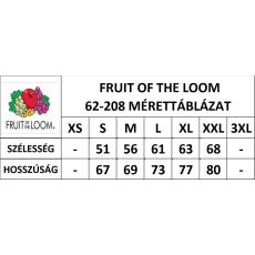Fruit of the Loom Férfi kapucnis pulóver, fekete