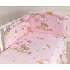 Babaágynemű garnitúra 2 részes huzat - Álmos mackók rózsaszín