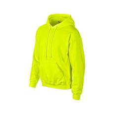 GILDAN kapucnis pulóver, safetygreen