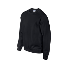 GILDAN környakas unisex pulóver, fekete