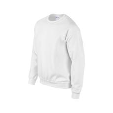 GILDAN környakas unisex pulóver, fehér