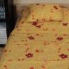 Krepp ágyneműhuzat (sárga virágos)