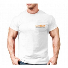 GymBeam Clothing Póló Hard Work Basic White Orange - GymBeam