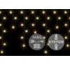 diLED fényeső - 180 LED meleg fehér + bekötés karácsonyfa izzósor