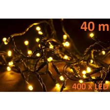 Karácsonyi LED világtás 40 m - meleg fehér, 400 dióda karácsonyfa izzósor