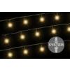 diLED világító lánc - 100 LED meleg fehér