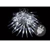 Karácsonyi dekoratív világítás - jégcsapok - 60 LED hideg fehér karácsonyfa izzósor