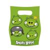 No-name Party Ajándékzacskó Születésnapi-Zöld Malacok Angry Birds<6db/ csom>