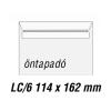 SilverBall Boríték LC6 öntapadó BÉLÉSNYOMATLAN 114x162mm   <1000db/ dob>