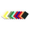 FELLOWES Spirál hátlap, A4, 250gr, matt, FELLOWES Delta, fekete <100db/csom>
