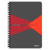 Leitz Spirálfüzet -44580025- A5 kockás laminált karton borítás Piros Leitz