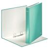Leitz Gyűrűskönyv -42410051-lakkfényű 40mm gerinc 2gyűrűs metál jégkék LEITZ