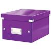 Leitz Doboz -60430062 - A5 méretű lakkfényű lila CLICK&STORE LEITZ