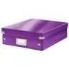 Leitz Rendszerező doboz-60580062- M méret Lila CLICK&STORE
