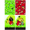 Interdruk Iskolai füzet -vegyes mintákkal-A5 32 lap Angry Birds kockás <10db/ cs