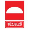 No-name Információs matrica - TV147 - 160x250 mm Tűzjelző (piktogram+felirat)