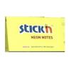 Stick'n Öntapadó jegyzettömb -21135 76x127 mm NEON SÁRGA 100 lap STICK'N