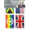 No-name Falimatrica -WALLPLC002- 50x70cm Flags <1ív/ csom>