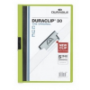 DURABLE Klippmappa -2200/05- 30 lapig zöld Duraclip DURABLE