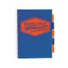 """Pukka pad Spirálfüzet, A4, vonalas, 100 lap, PUKKA PAD """"Project book Neon"""", kék"""