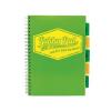 """Pukka pad Spirálfüzet, A4, kockás, 100 lap, PUKKA PAD """"Project book Neon"""", zöld"""