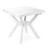 Báthory Háztartási és Műanyagáru NILO 80x80 cm-es asztal fehér  színben