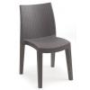 Báthory Háztartási és Műanyagáru LADY műrattan szék barna színben