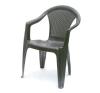 Báthory Háztartási és Műanyagáru KORA karfás szék barna  színben kerti bútor