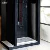 Sapho Vitra Line nyílóajtó fix résszel 110x200 cm transzparent üveg jobb