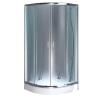 Leziter Spirit BAMBOO 90x90x194 cm íves zuhanykabin, erősített akril zuhanytálcával