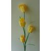 Padlóvázába !! 4 virágos tulipán 110 cm citrom