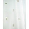 Fehér voila vitrage függöny, barna nyírt négyzetes mintával/015/Cikksz:01310227