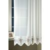 Fehér hímzett voila kész függöny, Levendula/0016/Cikksz:01130901