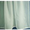 Ecrü voila vitrage függöny, kevés hímzéssel/0016/Cikksz:01150019