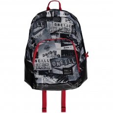 O'Neill BM Wedge Backpack Hátizsák,táska D (O-624008-p_1990-WHITE AOP W_ BLACK)